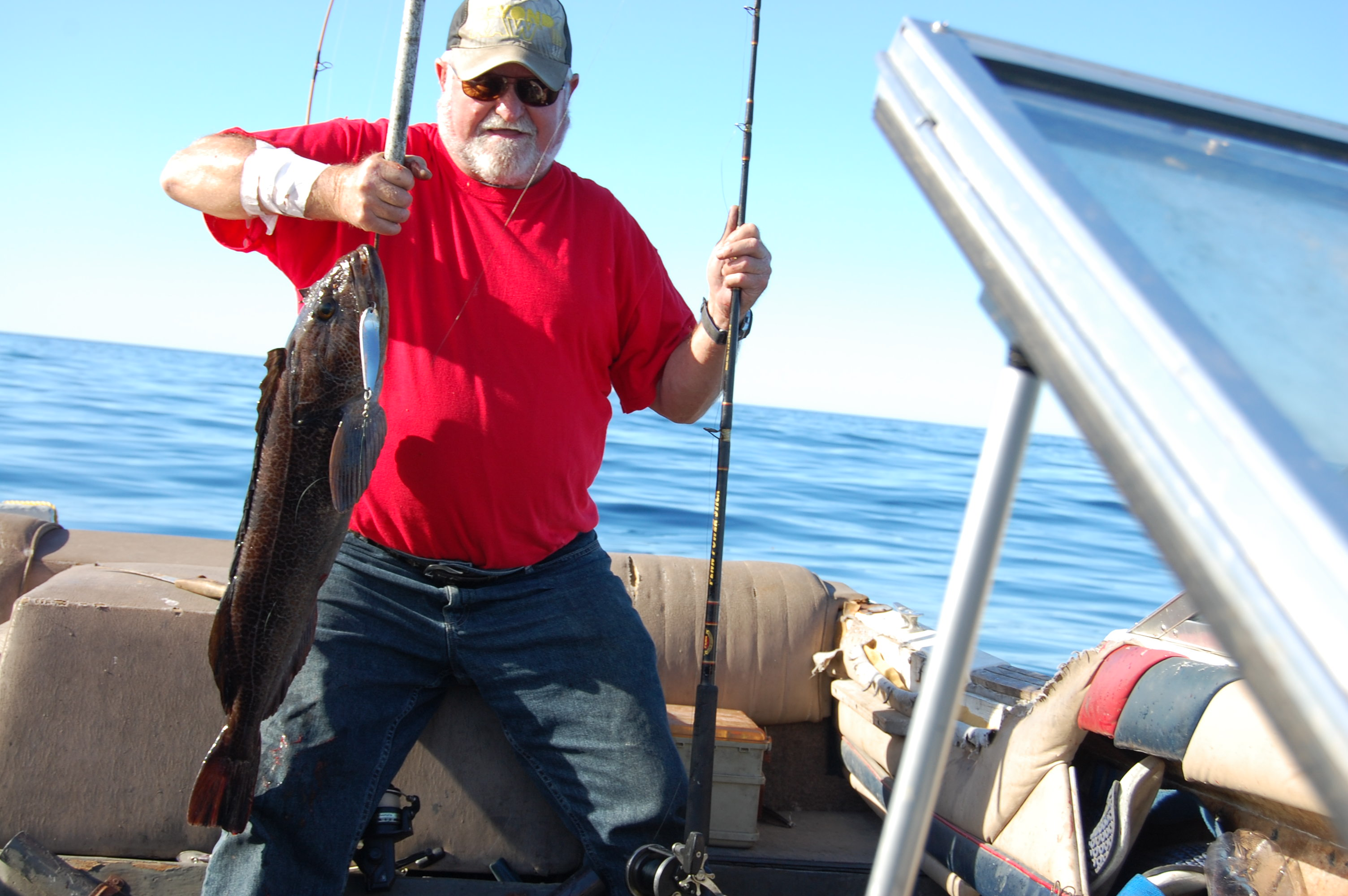 Dad and a linkcod in the Bay of Ensenada